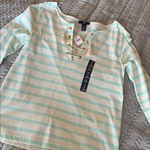 NWT - Gap lace-up top!